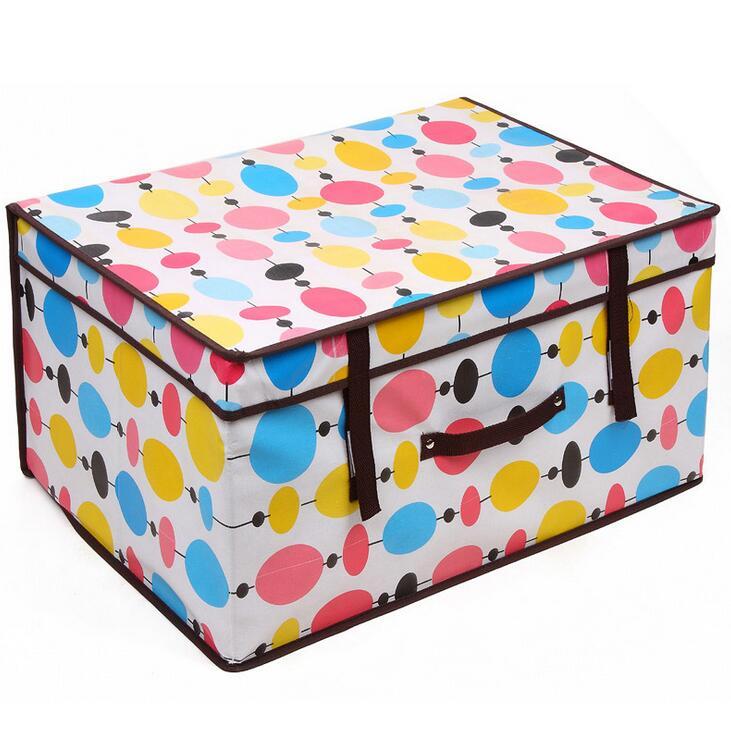 30*40*60CM Rainbow Balloon Pattern Storage Box Clothes Toys Sundries Bedding Organizer Blanket Underbed Container(China (Mainland))