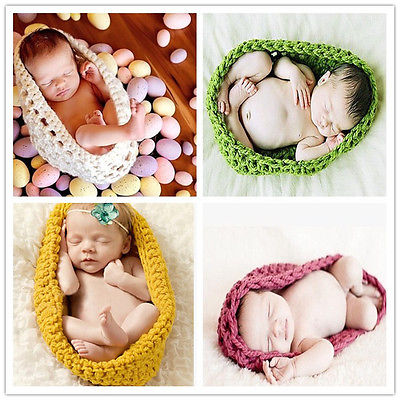 Cute Crochet Wool Sleeping Bags Born Knitted Chunky Cocoon Nest Baby Pod Bowl Great Photography Photo Prop(China (Mainland))