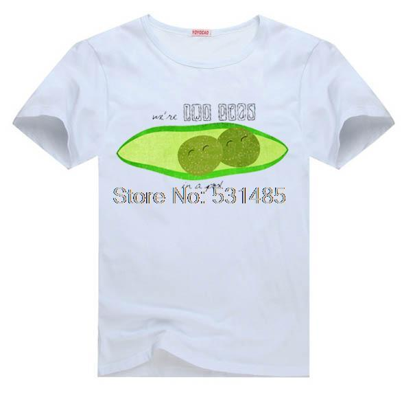 Best Friends Two Peas in a Pod tee t shirt for kid Boy Girl clothing top clothes cartoon tshirt E0231(China (Mainland))