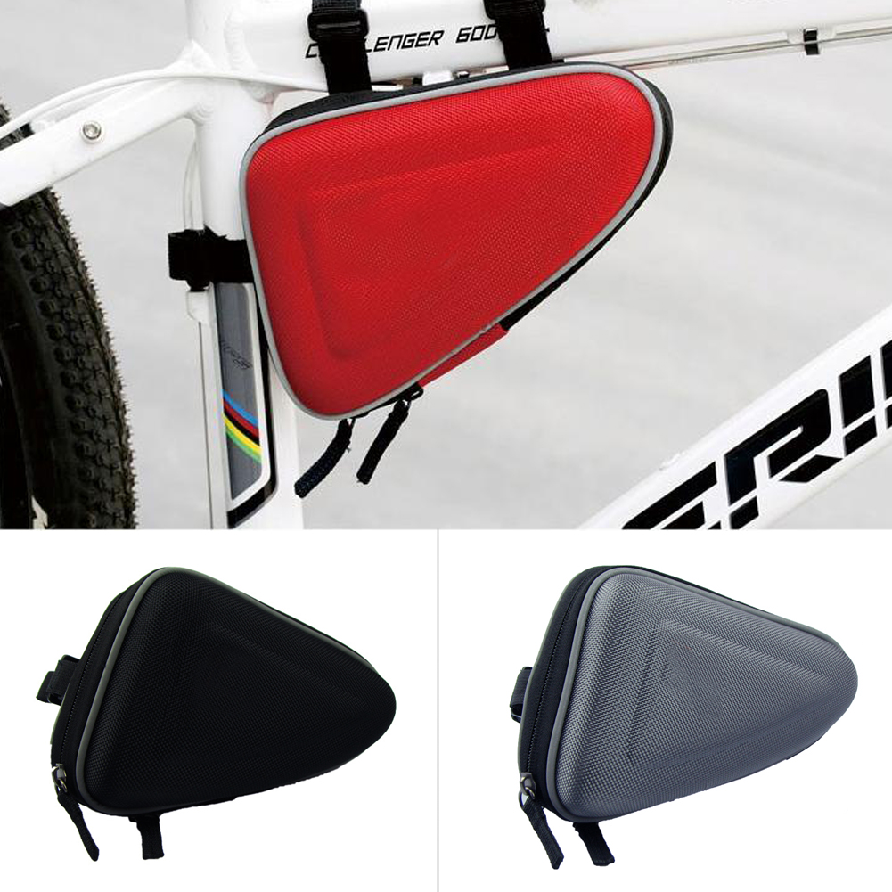 Outdoor Waterproof Cycling Bike Bycicle Frame Pack Pannier Front Tube Triangle Bag Pouch black/red/gray(China (Mainland))