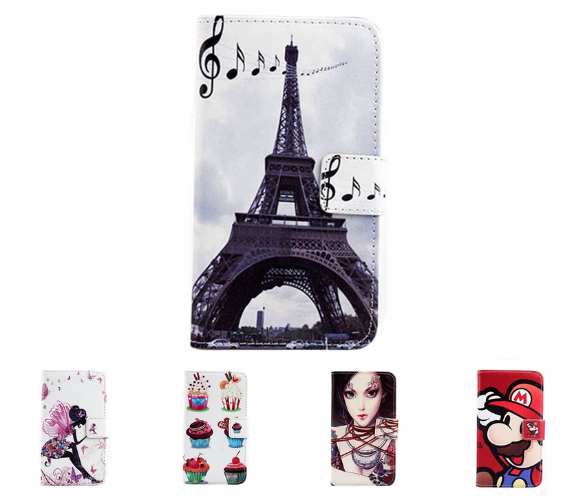 Hot Stand 5PCS/Lot Skin Pouch PU Leather Case Optional Girl Phone Case Painted Book Style Flip Cover For Samsung wifi 5.0/ G70(China (Mainland))