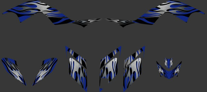 (blue 0324) New STYLE TEAM DECALS STICKERS Graphics Kits for RAPTOR 700 ATV 2006 2007 2008 2009 2010 2011 2012(China (Mainland))