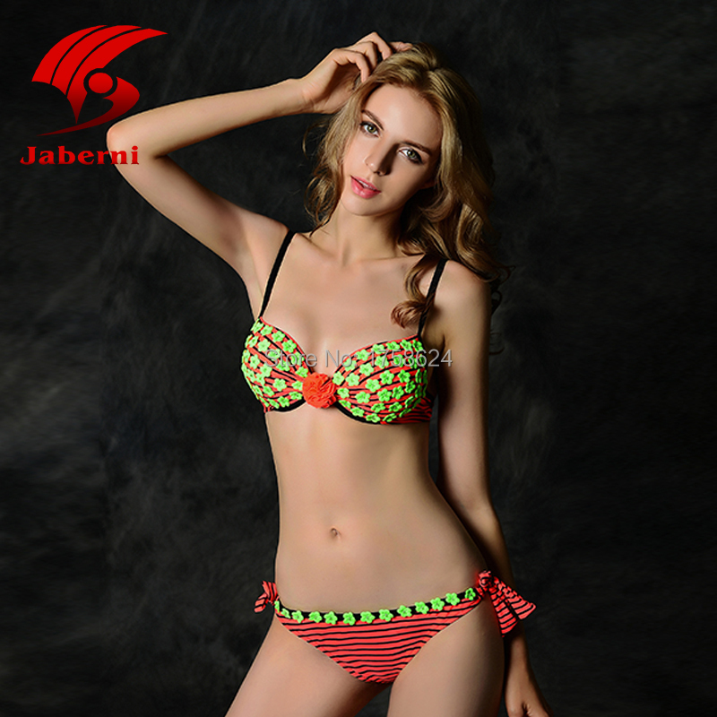 2015 Fashion New Sexy And Soft Tight Material Triangl Neoprene Bikini Push Up Bathing Swimming Suit For Women Free Shipping(China (Mainland))