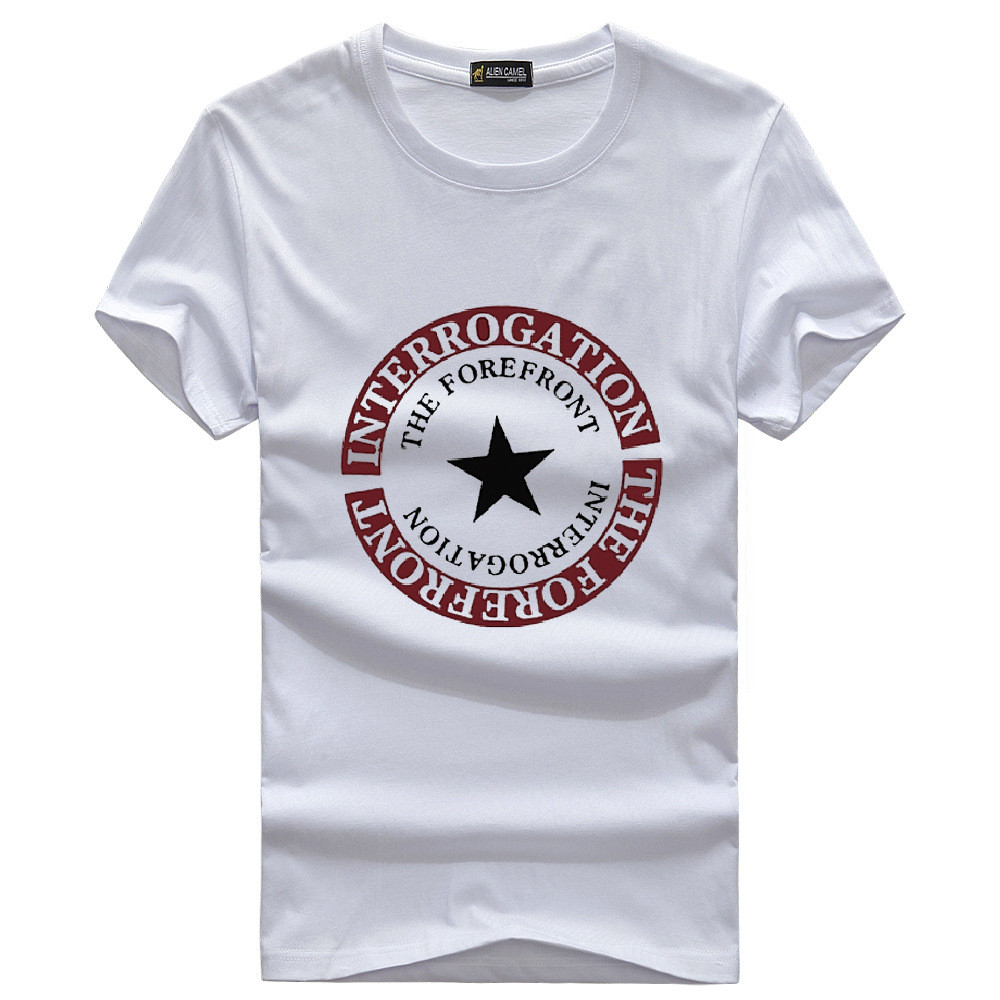 Slim Men's cotton short sleeve T-shirt 2015 summer new Top quality men o-neck printed t shirt clothing vodak tops S-5XL(China (Mainland))