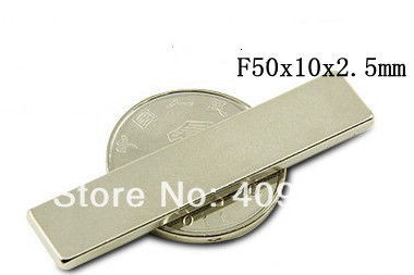 2Neodymium Block Countersunk Ring Strong Magnets F50 x10 x 2.5mm N35 - Bryan's store