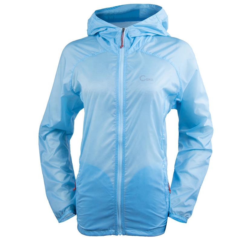Caxa Summer Waterproof Outdoor Hiking Jacket Women Quick Dry Anti-UV Rain Jacket Ultralight Camping Cycling Sport Skin Jackets(China (Mainland))