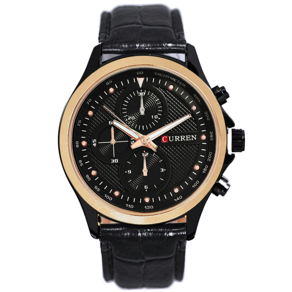 watches top brand luxury curren dress leather