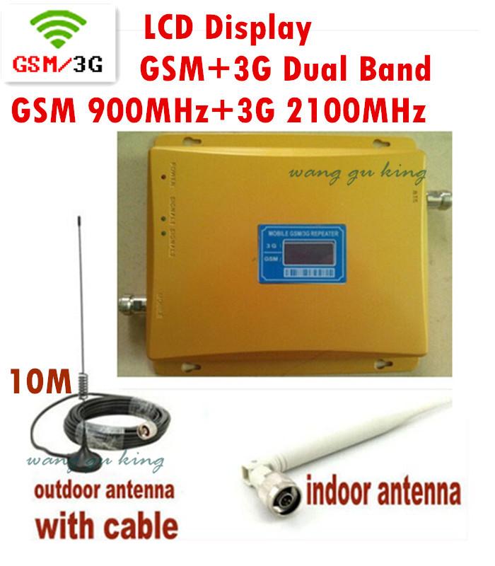 Здесь можно купить  Dual Band GSM 900Mhz  3G W-CDMA 2100MHz  Signal Booster , 2G 3G GSM Mobile Phone Signal Repeater With Antenna LCD BOOSTER  Телефоны и Телекоммуникации