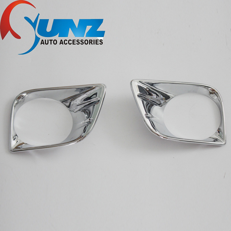 ABS chrome toyota prado 150 accessories front fog light cover trim fit fj150 2010 2011 2012 2013 lamp hood car styling(China (Mainland))