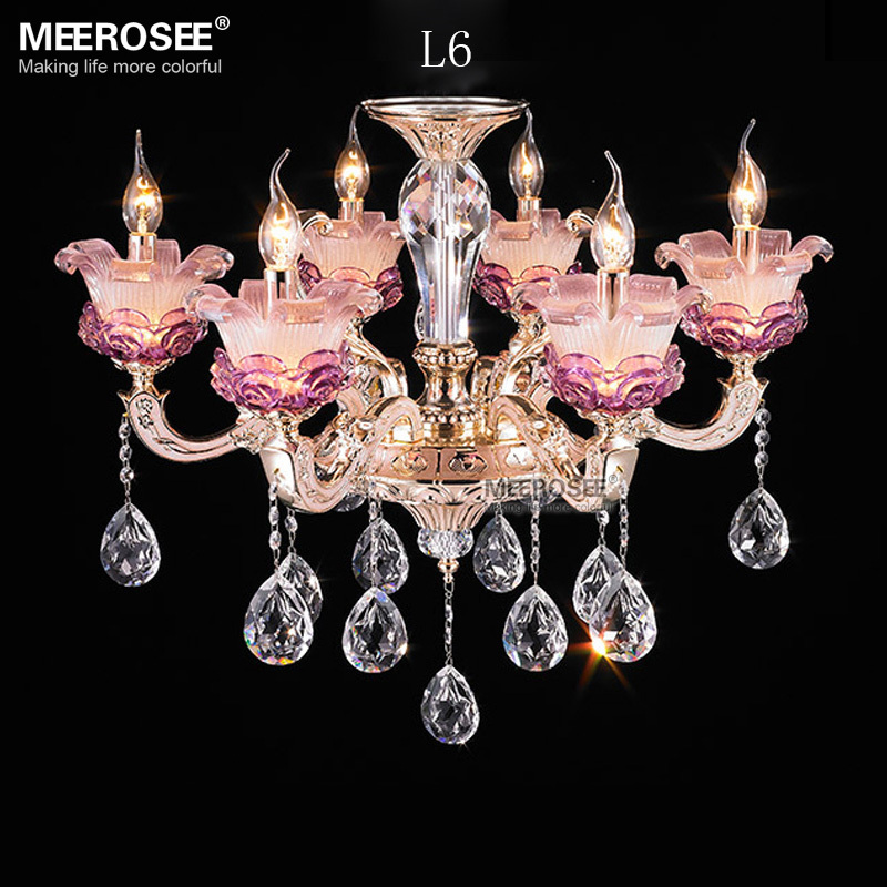6 lights cheap modern crystal chandelier lighting for Inexpensive chandeliers for dining room
