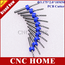 Free Shipping 10 pcs/lot 3.175x2x10mm Carbide End Mill Engraving Edge Cutter Router Bits for CNC/PCB Machinery Woodworking Tools(China (Mainland))