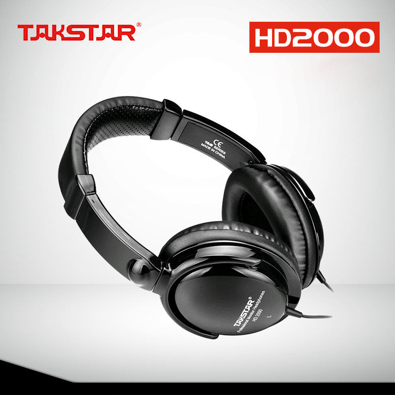 TAKSTAR HD2000 headset music monitor's dj earphones Free Shipping Audio Mixing Recording Professional Monitor Headphones(China (Mainland))