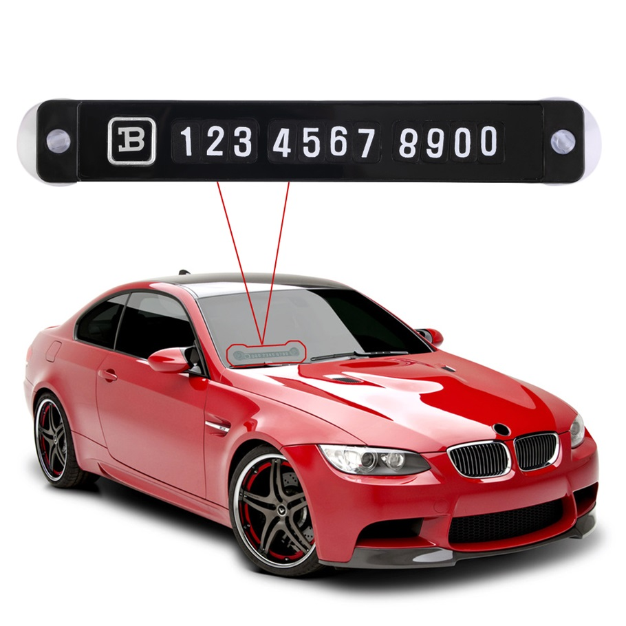 New Car Parking Notification Phone Number Card Luminous Telephone Number Metallic Plate for Vehicle Interior hot selling(China (Mainland))