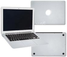 Silver Carbon Fiber Full Sticker for apple Macbook Pro 15 Retina Skin Case Model for A1398 Laptop Protection Vinyl Decal