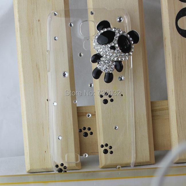 Fashion 3D Handmade Bling Diamond Panda Crystal Rhinestone Clear Cell Phone Case Cover Samsung Galaxy S4 mini i9190 - huhu's store