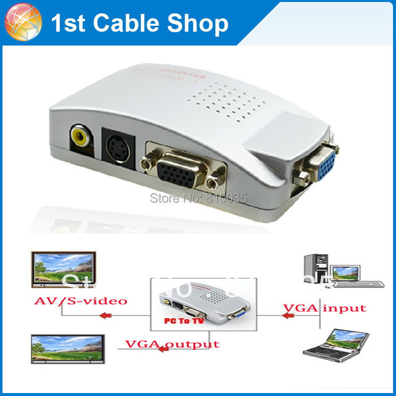 PC VGA to TV AV RCA Signal Adapter Converter Video Switch Box(VGA cable is not included)(China (Mainland))