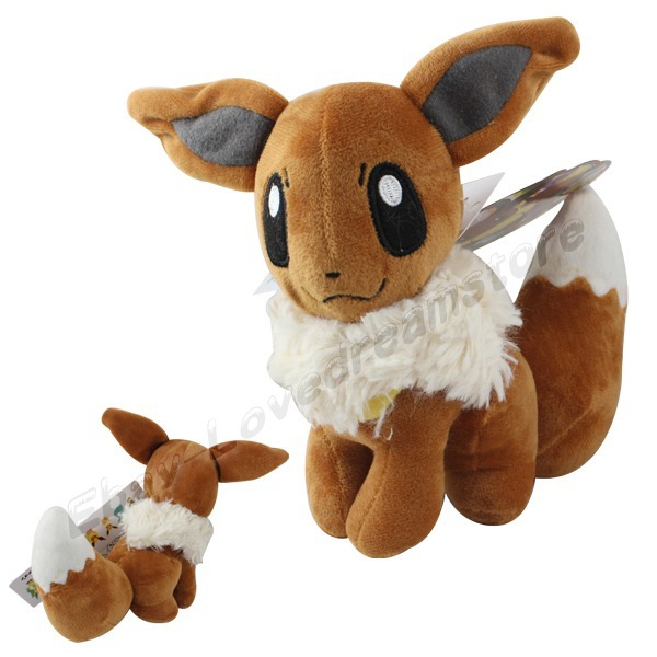 FREE SHIPPING Japanese Animation Cute! Pokemon Eevee 17cm Suction Plush Stuffed Doll Toy #133(China (Mainland))