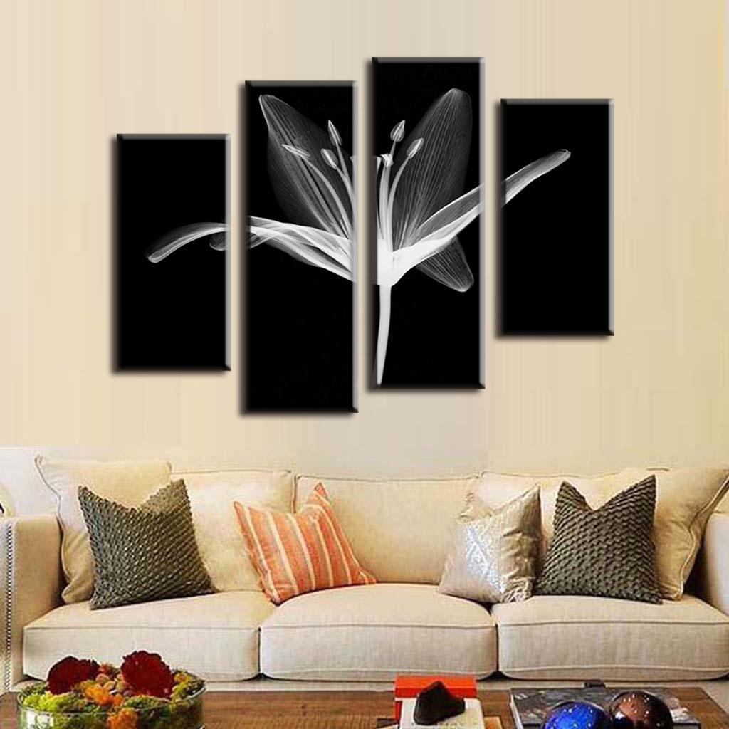 Wall Art Sets For Living Room Online Get Cheap White Floral Wall Art Aliexpresscom Alibaba Group