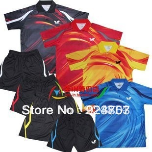 free shipping ! New 2011 Butterfly Men Badminton /table tennis Shirt/Shorts set