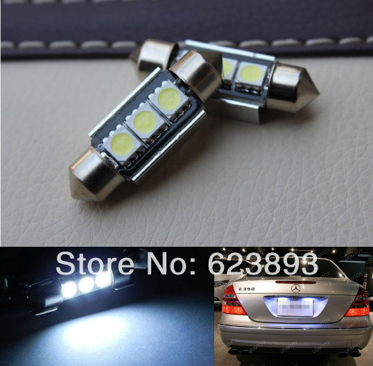 Free shipping,2x Super bright LED Canbus no error License Plate Light for VW Golf 3 4 5 6 Passat 3c B6 B5 Polo(China (Mainland))