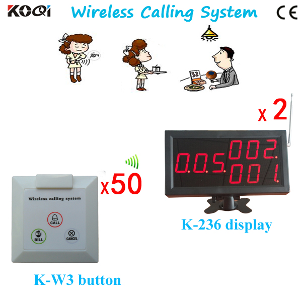 The Popular Fast Food Equipment K-4-C+K-W3 Waiter Server Paging Service System(China (Mainland))