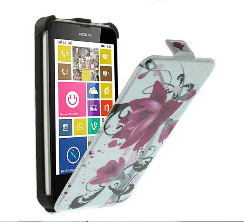 Nokia Lumia 630 Leather Case Colorful Pattern Vertical Card Holder Cover Stand 635 037 - Fly China store