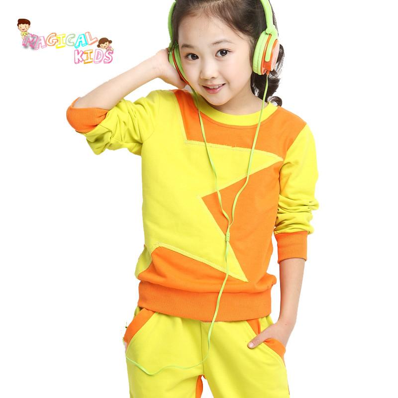 New Brand Fashion Girls Clothes Set Spring Autumn Children Clothing Sets Long Sleeve Sport Suit vetement enfant fille(China (Mainland))