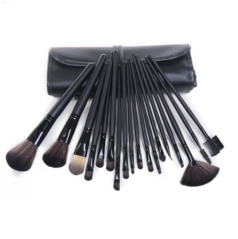 18Pcs Contouring Professional Makeup Brush Set Kit Lips Eyeliner Eyebrow Blush Foundation Powder Blending Angled Make Up Brushes(China (Mainland))