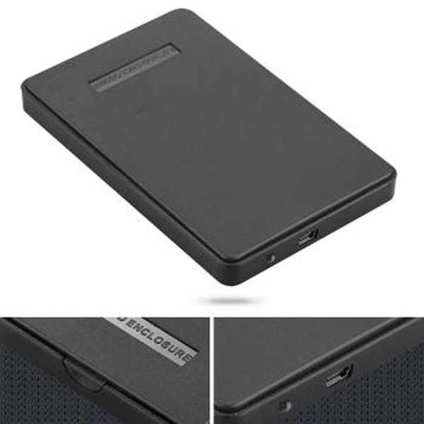 USB 2.0 HDD Enclosure HDD External Caddy Case for 2.5'' Hard Disk Drives IDE discos duros external 2tb with USB cable Pouch(China (Mainland))