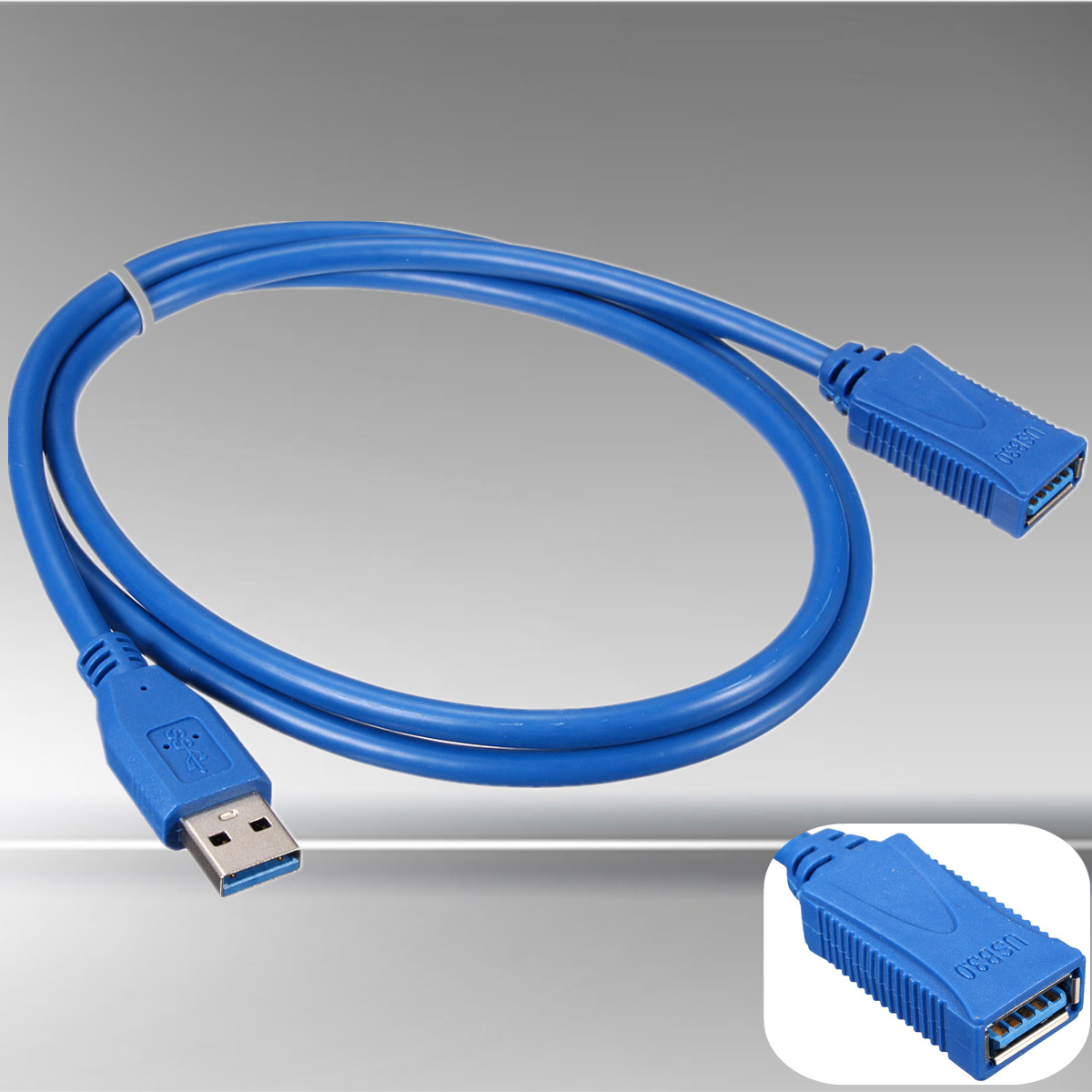 1M High Speed USB 3.0 A Male to Female Cable 1M Wire Extension Data Transfer M/F Cable Blue(China (Mainland))