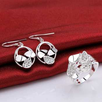 Christmas Gift!!Wholesale 925 Silver Jewelry Sets,Sterling Silver Jewelry,pin flei E+R SMTS790