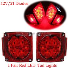 2pcs LED Submersible Square Trailer Truck Tail Bake Light Side Maker Light J-24245(China (Mainland))