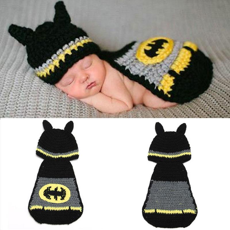 Newborn Baby Batman Hat Crochet Pattern Infant Photography ...
