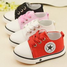 2016 New Fashion Canvas Leather Baby Girls Boys Lace-up Bulk Soft Soled Girls Newborn Boots Shoes Kids Pattern First Walker(China (Mainland))