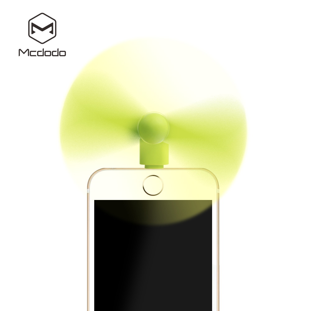 Mcdodo Mini Cooler Fan For Lightning Ports iPhone 6 6 Plus 5 5S 5C iPad 4 Mini Air For Micro USB Android Phones(China (Mainland))
