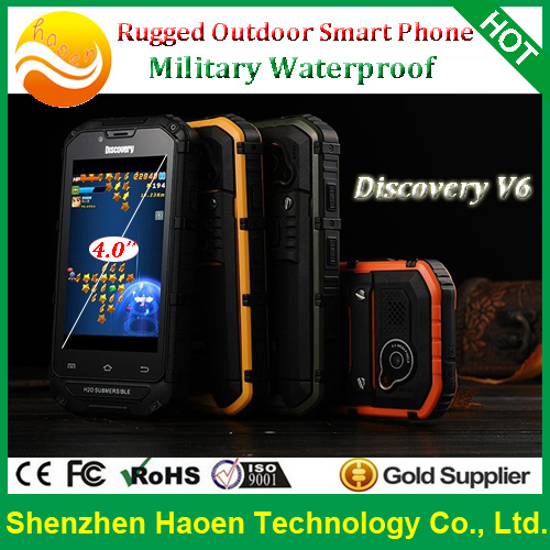Cheap Price Rugged Cellphones Waterproof Dustproof Shockproof and MT6572 Dual core 3G 2800mah ultra long standby cellphones(China (Mainland))