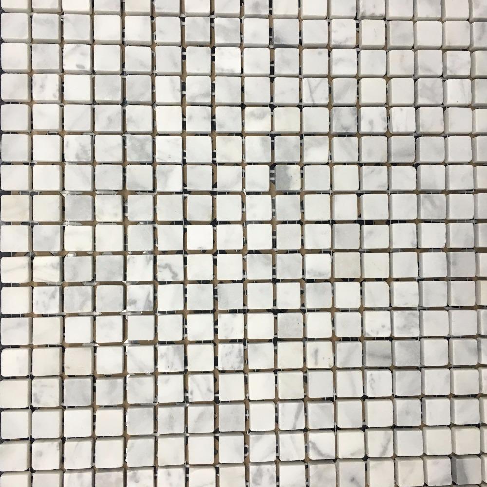 LSST120,Cararra marble mosaic. 1500 marble mosaic tiles(China (Mainland))