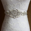 New Arrival Luxurious Crystal Pearl Women s dress belts Fashion White Ivory Ribbon Belts for Bride