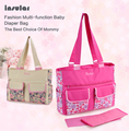 New Arrival Large compacity Antimicrobial Baby Diaper Bags Fashion Baby Bags Nappy Bags Mommy Floral Messenger