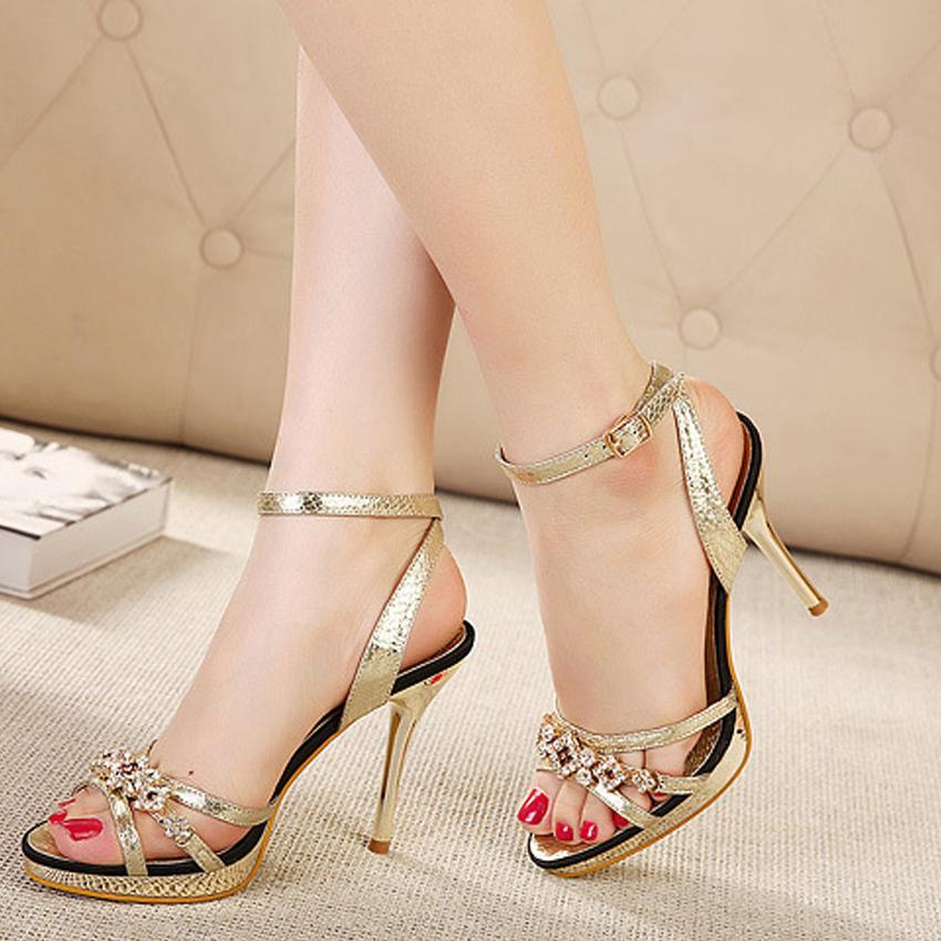 Free Shipping Womens sandals Sexy Women High heels Sandal Ladies Thin heel Shoes Sandals Fashion Woman Summer sandalias 75<br><br>Aliexpress