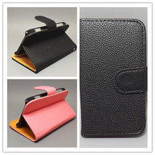 Luxury Litchi leather case cover for LG OPTIMUS L3 E400 e405,stand function and card holder,free shipping(China (Mainland))
