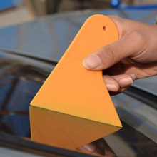 Car Stickers Scraper Plate Glass Yellow Plastic Film Tools High Quality Car Accessories(China (Mainland))