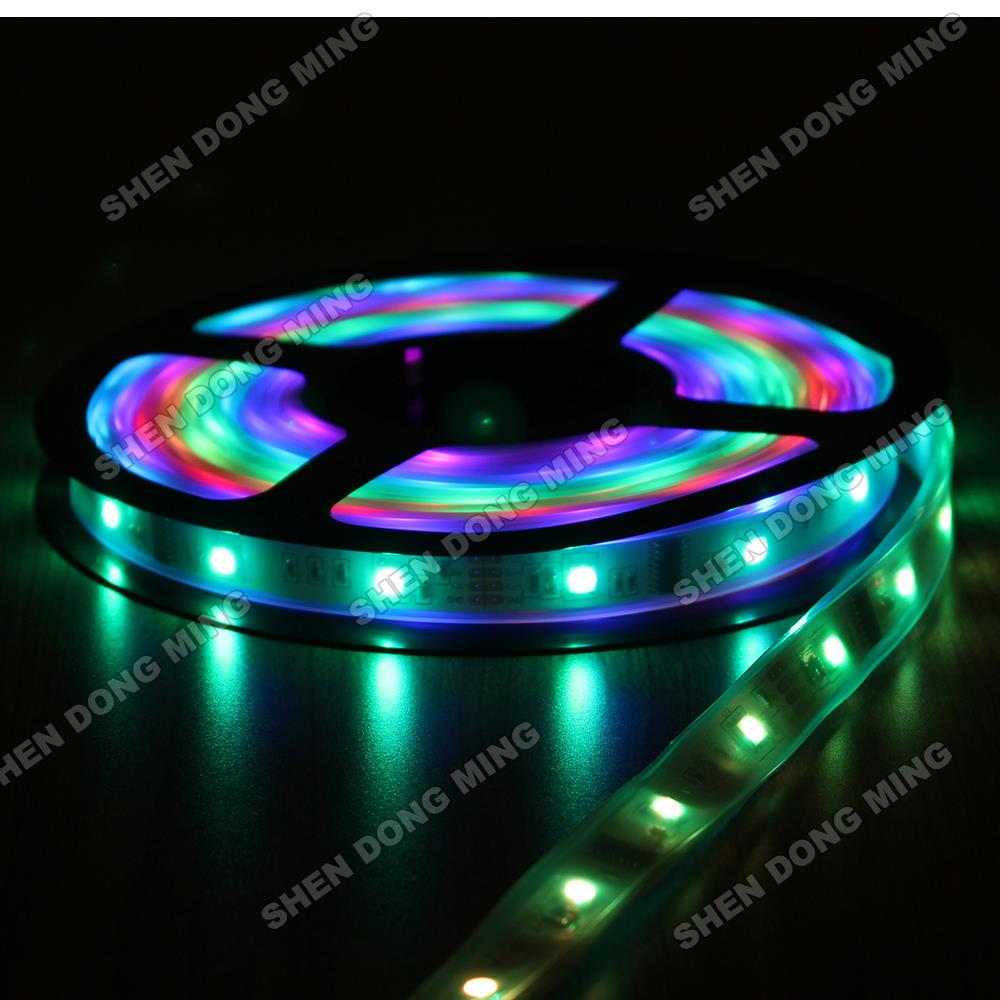 50M DC12V 150leds 50ICs LED Pixel strip LPD6803 led strip 5050 tube waterproof IP67 RGB changeable dream color led strip light(China (Mainland))