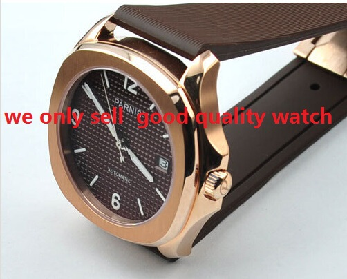 40mm PARNIS \ Automatic mechanical movement  watches men Luxury watch Fashion watches Famous brand watches<br><br>Aliexpress