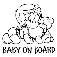 The Second Half Price BABY ON BOARD Car Stickers 11*11CM Car Styling Car Accessory Home wall decals Motorcycle sticker(China (Mainland))
