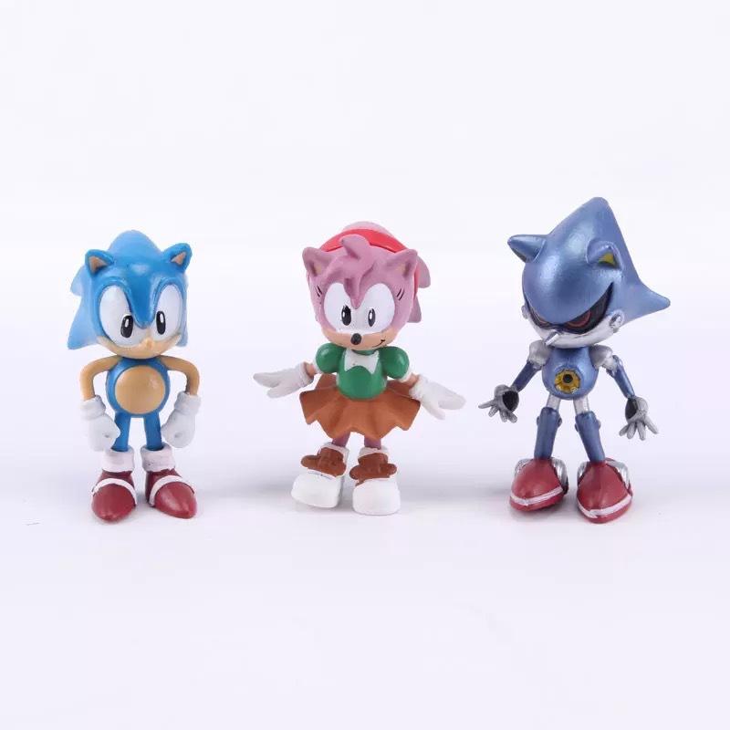 6Pcs/set Sonic the Hedgehog action figure toys 6cm PVC Sonic model dolls decoration toy Kids gift brinquedos