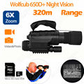 Free shipping Wolfcub NV 650D Infrared Night Vision IR Monocular Telescope Scope Recorder DVR