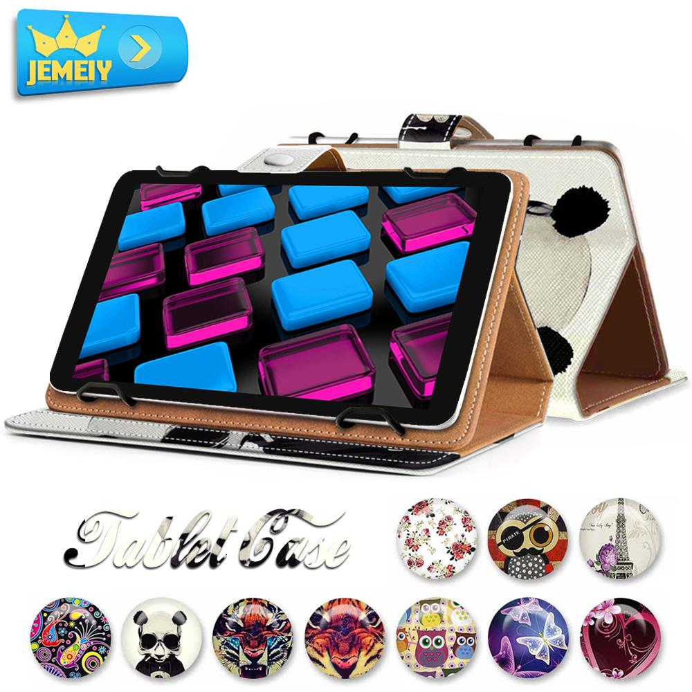 Cute Print Leather Universal Cover For Toshiba Encore 2 Write 10 Case Flip Wallet Tablet Bag Large Size(China (Mainland))