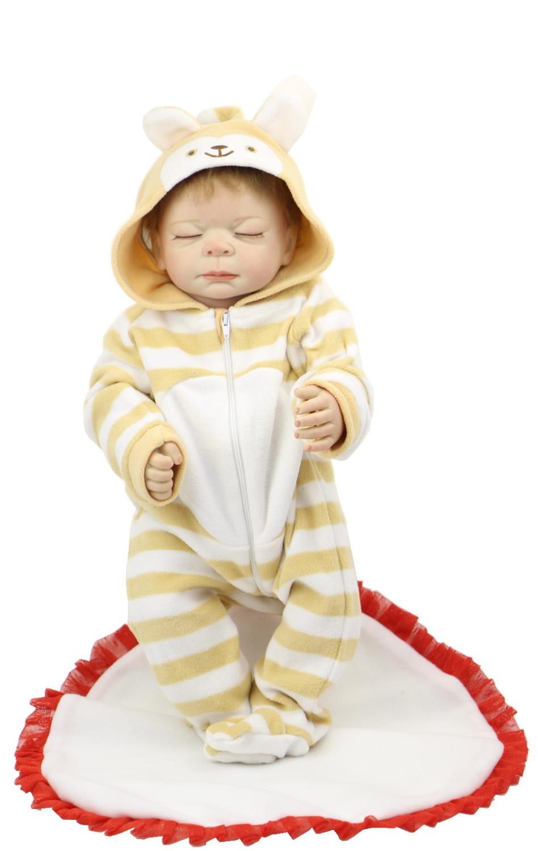 Handmade Doll Reborn 20inch Full Vinyl Silicone Reborn Baby Doll Toys For Girl Lifelike Baby Alive Christmas Gift