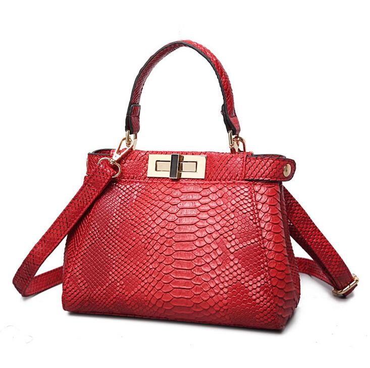 brand bag 2016 Fashion Snakeskin genuine leather handbag designer high quality luxury handbags dollar price crossbody bags(China (Mainland))